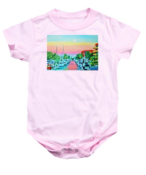 Sunset On The Canal Baby Onesie