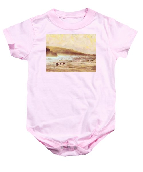 Surfer Dawn Baby Onesie