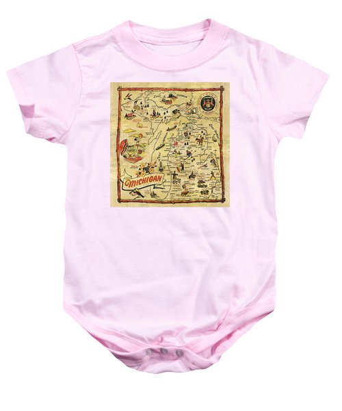 The Great Lakes State Baby Onesie