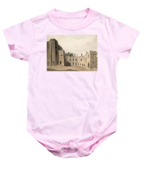 The Inner Court Of Berkeley Castle Baby Onesie