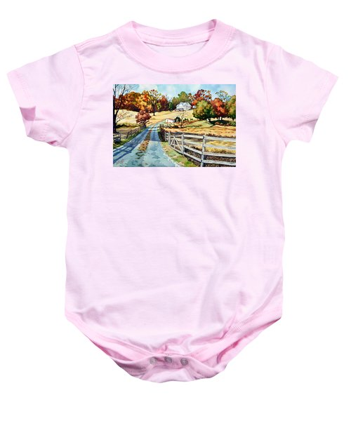 The Road To The Horse Farm Baby Onesie