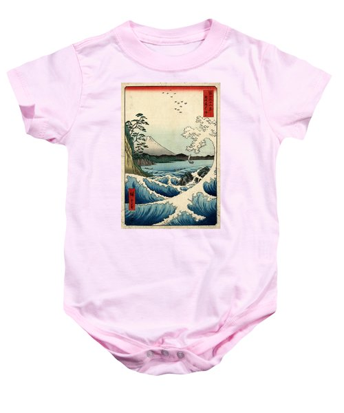 The Sea At Satta In Suruga Province Baby Onesie