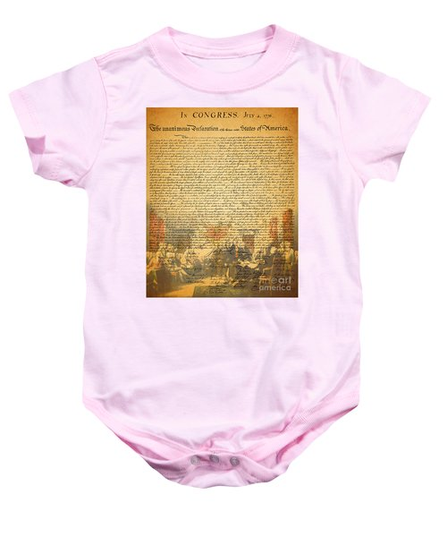 The Signing Of The United States Declaration Of Independence Baby Onesie