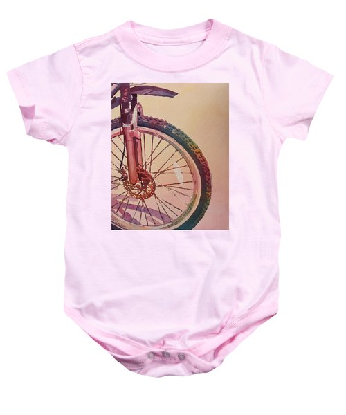 The Wheel In Color Baby Onesie