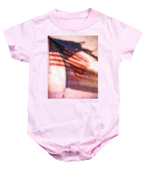 Through War And Peace Baby Onesie by Bob Orsillo
