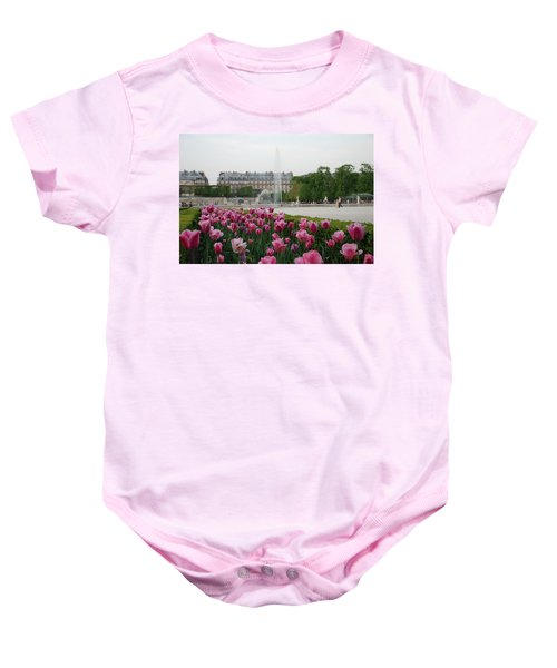 Baby Onesie featuring the photograph Tuileries Garden In Bloom by Jennifer Ancker