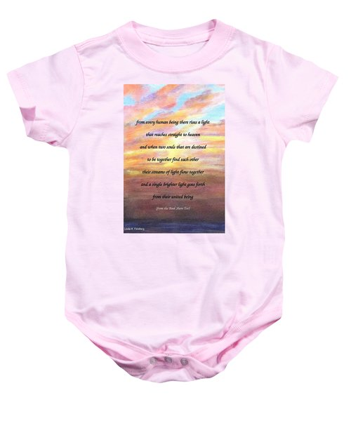 Two Souls Destined To Be Together Baby Onesie
