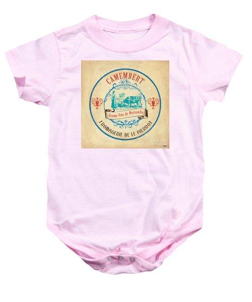 Vintage Cheese Label 3 Baby Onesie