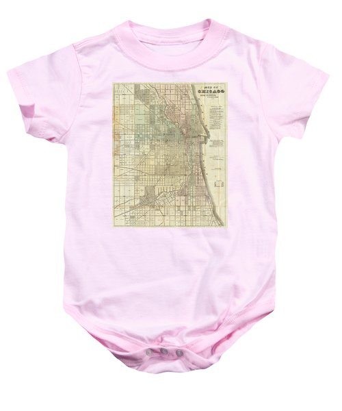 Vintage Map Of Chicago - 1857 Baby Onesie