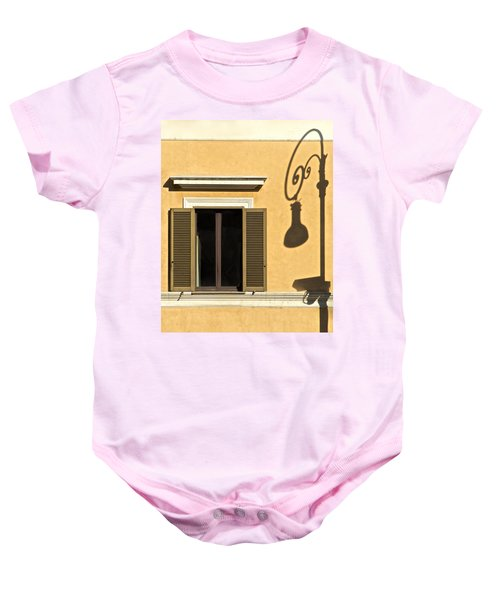 Wrought Iron Street Lamp Shadow Of Ancient Rome Baby Onesie
