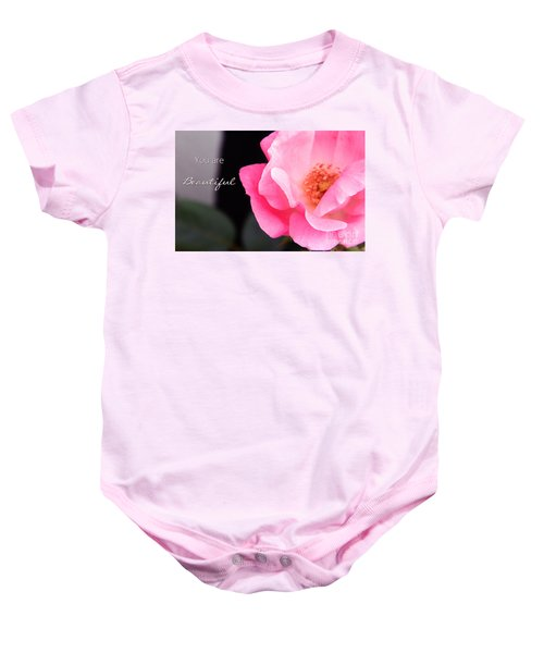 You Are Beautiful Baby Onesie