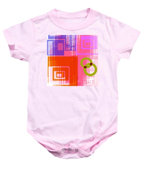 Art Deco Style Digital Art Baby Onesie