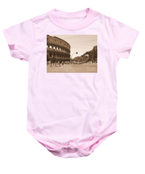 Colosseum In Sepia Baby Onesie