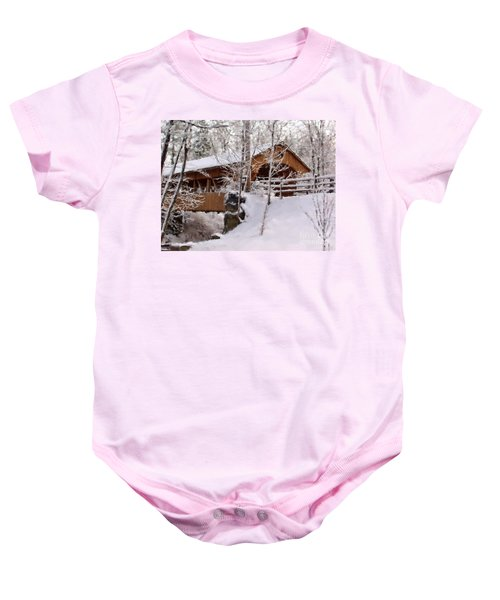 Covered Bridge At Olmsted Falls - 2 Baby Onesie