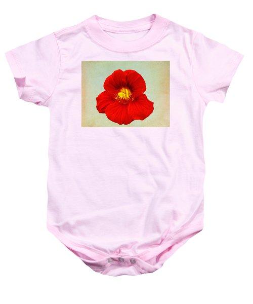 Daylily On Texture Baby Onesie