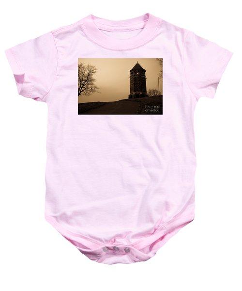 Fox Hill Tower Baby Onesie