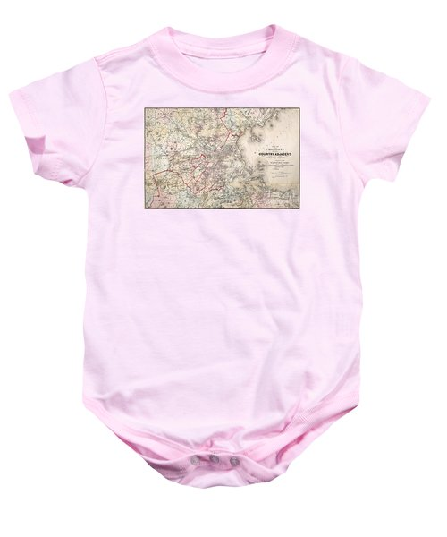 Map: Boston, 1883 Baby Onesie