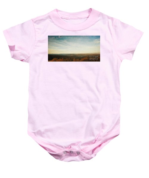 Mountains As Far As The Eye Can See Baby Onesie