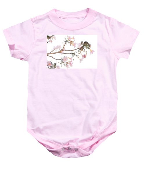 Pink Blossoms In Panama Baby Onesie