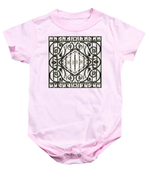 Snowy Forms Baby Onesie