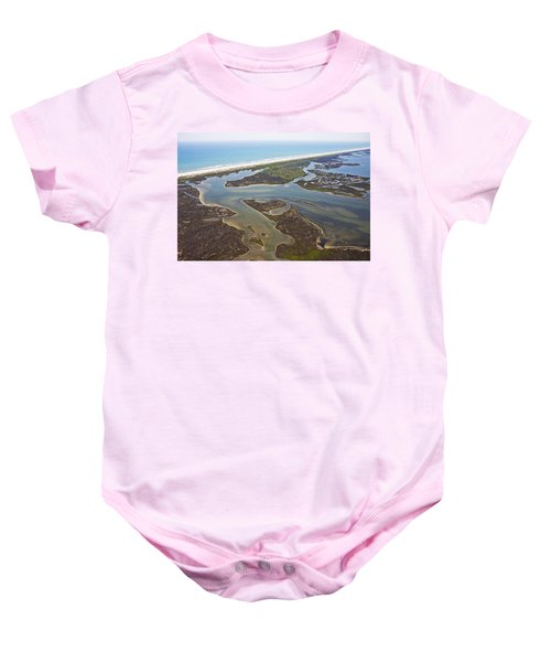 Tiny Airplane Big View Us East Coast Baby Onesie