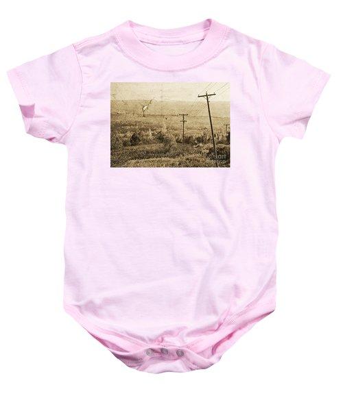 Vintage View Of Ontario Fields Baby Onesie