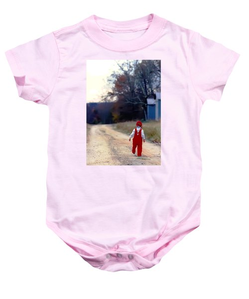 Walking On Pawpaw's Road Baby Onesie