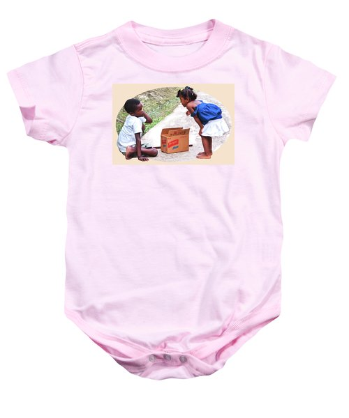Caribbean Kids Illustration Baby Onesie