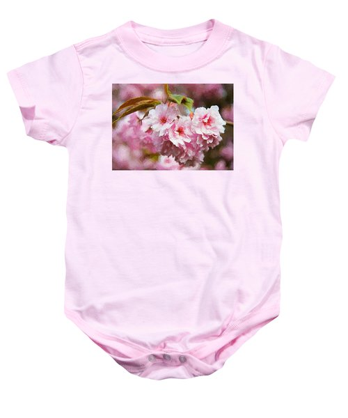 Baby Onesie featuring the digital art Cherry Blossom by Charmaine Zoe