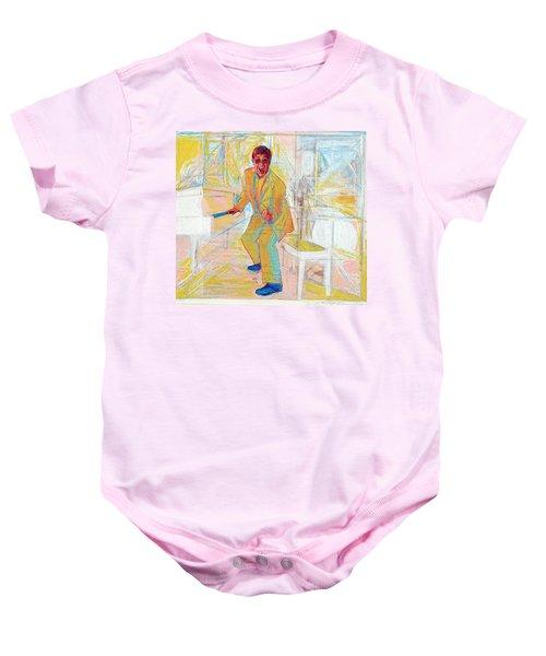 Elton John Baby Onesie by Martin Cohen