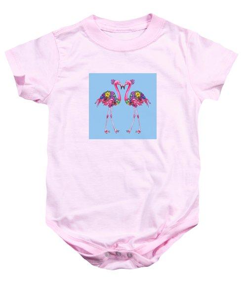 Fancy Felicity Flamingo Baby Onesie