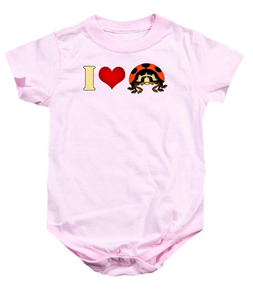 I Love Ladybugs Baby Onesie by Sarah Greenwell