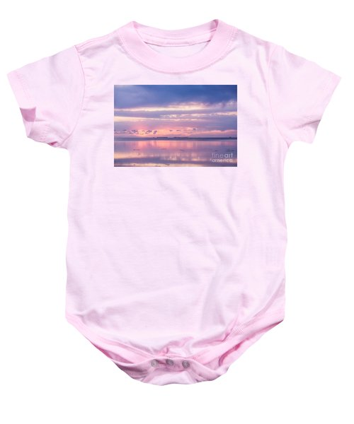 Reflections At Sunset In Key Largo Baby Onesie