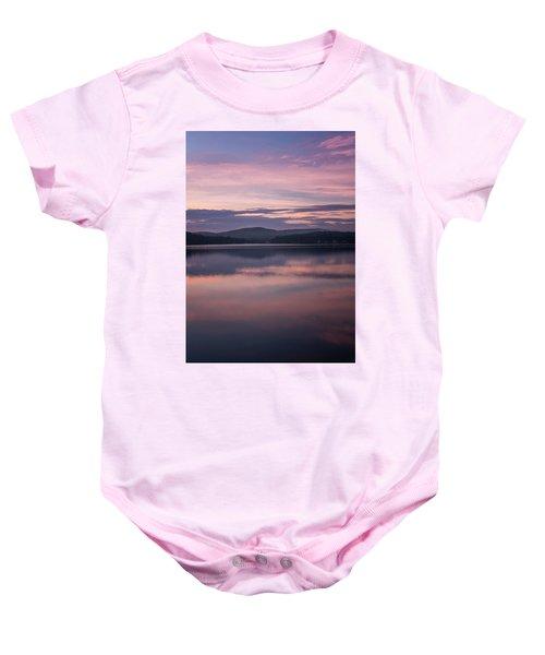 Spofford Lake Sunrise Baby Onesie