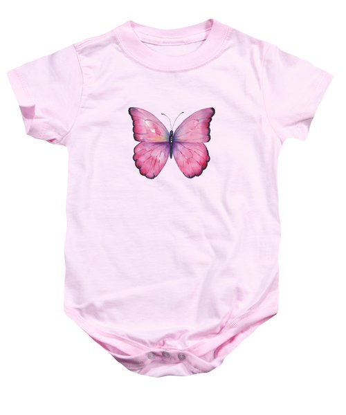 105 Pink Celestina Butterfly Baby Onesie