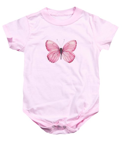 106 Pink Marcia Butterfly Baby Onesie