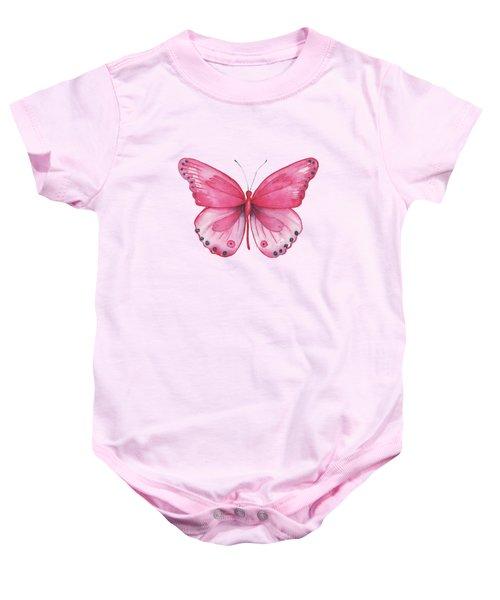 107 Pink Genus Butterfly Baby Onesie