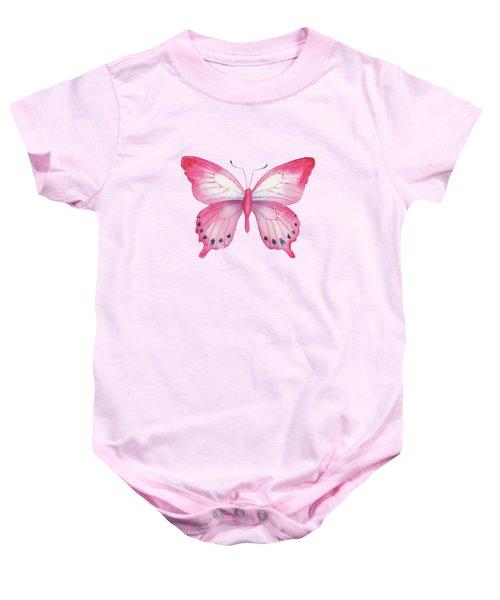 108 Pink Laglaizei Butterfly Baby Onesie