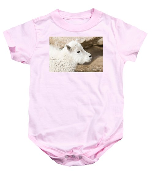 Baby Mountain Goats On Mount Evans Baby Onesie
