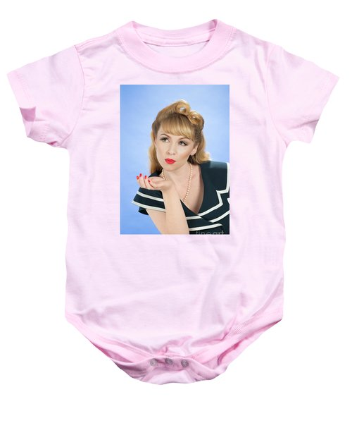 Pin Up Girl Baby Onesie