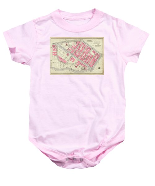 1930 Inwood Map  Baby Onesie by Cole Thompson