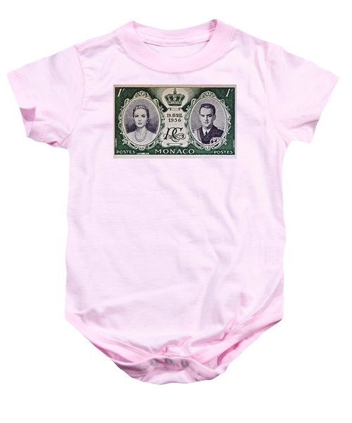 1956 Princess Grace Of Monaco Stamp II Baby Onesie by Bill Owen