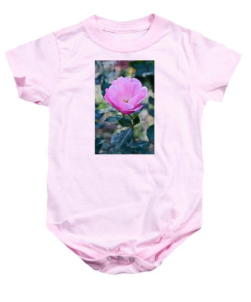 2015 After The Frost At The Garden Pink  Rose Baby Onesie