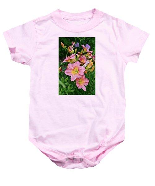 2015 Summer At The Garden Daylilies 1 Baby Onesie