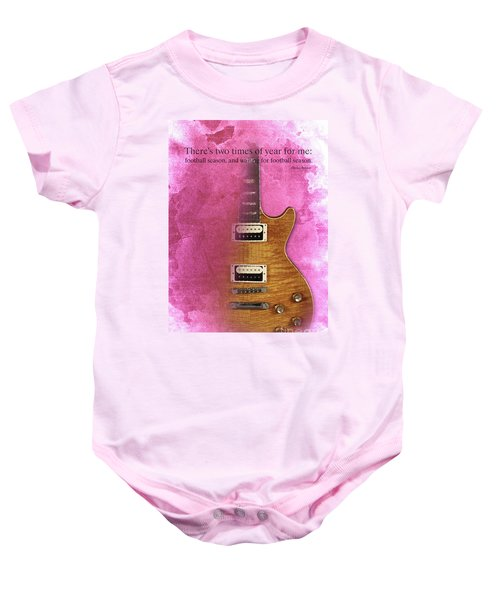 Darius Rucker Inspirational Quote, Electric Guitar Poster For Music Lovers And Musicians Baby Onesie