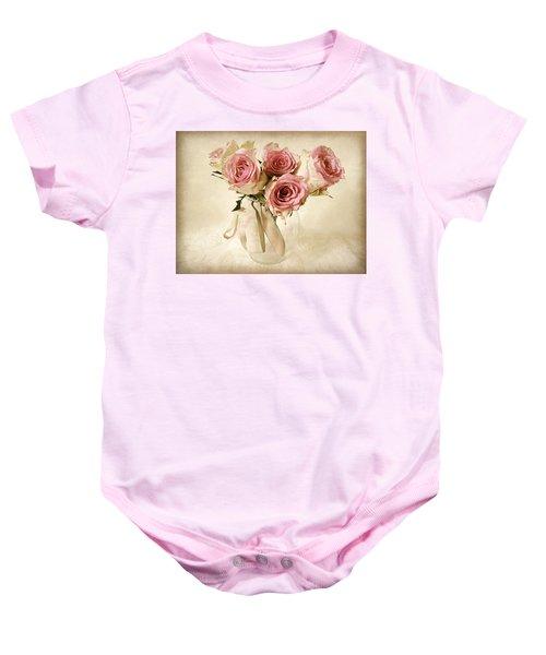 Vintage Bouquet Baby Onesie