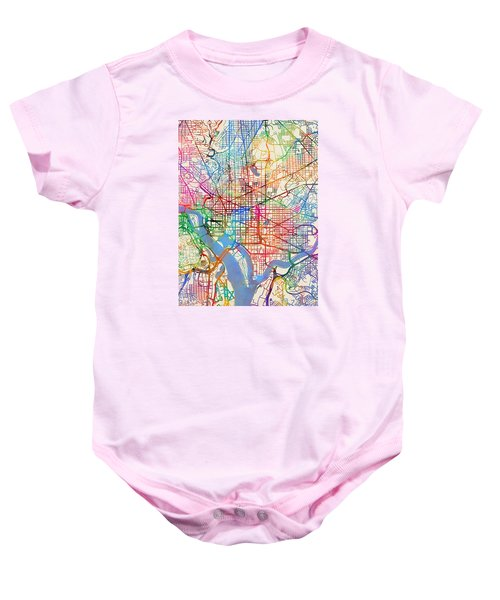 Washington Dc Street Map Baby Onesie
