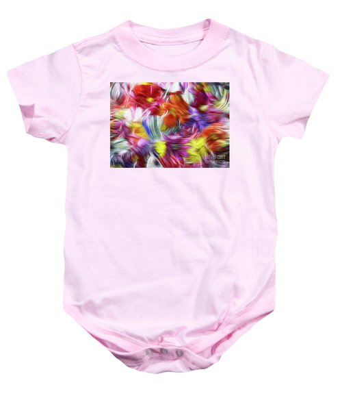 9a Abstract Expressionism Digital Painting Baby Onesie