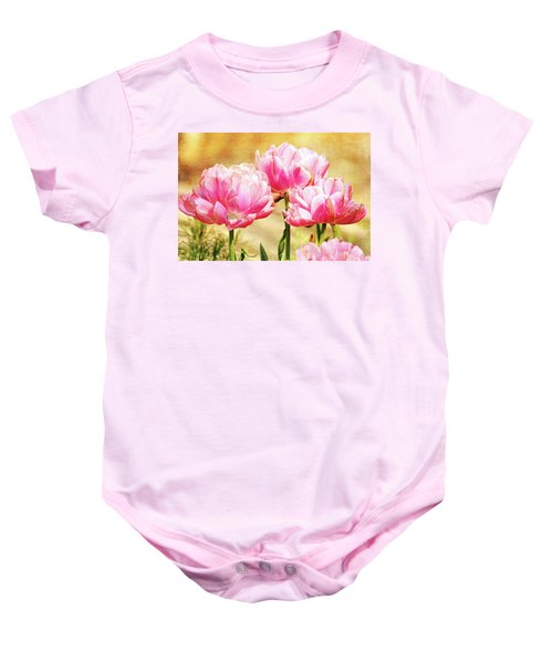 A Bouquet Of Tulips Baby Onesie