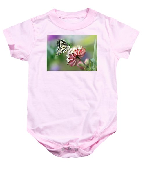Baby Onesie featuring the photograph A Delicate Touch by Morag Bates